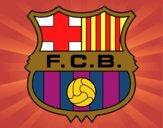 Dibujo Escudo del F.C. Barcelona pintado por simonocho