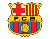 Dibujo Escudo del F.C. Barcelona pintado por Stefanie02