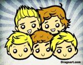 Dibujo One Direction 2 pintado por Michellinh