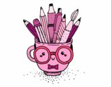 Dibujo Taza animada con lápices pintado por jimenakawy