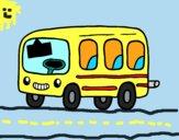 Un autobús escolar