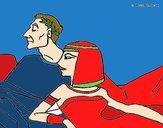 Dibujo César y Cleopatra pintado por amalia