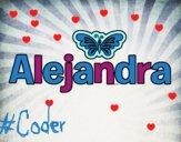 Dibujo Alejandra pintado por Ale_DeCD9