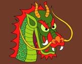 Dibujo Cabeza de dragón 1 pintado por olgablanco