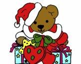 Osito con gorro navideño