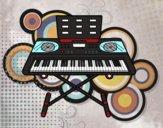 Dibujo Piano sintetizador pintado por LucyAbe