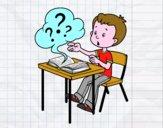 Dibujo Preguntas de colegio pintado por roca9911