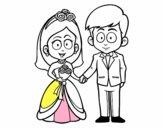 Vivan la novia y el novio.