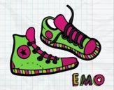 Dibujo Zapatillas pintado por nenita5