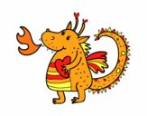 Dibujo Dragón infantil pintado por Laisai