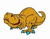 Dibujo Tyrannosaurus Rex pintado por galeri
