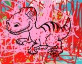 Dibujo Dinosaurio velociraptor pintado por VVVVVVVVV7
