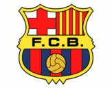 Dibujo Escudo del F.C. Barcelona pintado por elPety1708