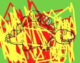 Dibujo Estegosáurido pintado por VVVVVVVVV7