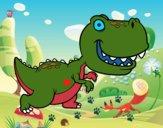 Dibujo Tyrannosaurus pintado por VVVVVVVVV7