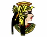 Dibujo Perfil de Cleopatra pintado por mabiuslrd