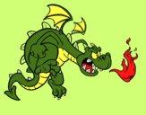 Dibujo Dragón malvado pintado por mencarev