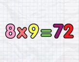 8 x 9