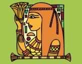 Dibujo Cleopatra pintado por izas