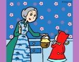 Dibujo Caperucita roja 2 pintado por mariacorte