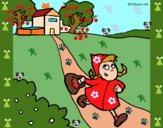 Dibujo Caperucita roja 3 pintado por mariacorte