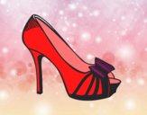 Zapato de plataforma con lazo