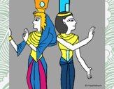 Pintura de la Reina Nefertari