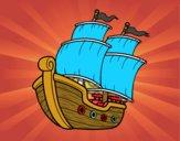 Dibujo Barco de vela pintado por Felicitas1