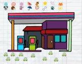Dibujo Gasolinera pintado por chabela21