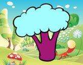 Trozo de brócoli