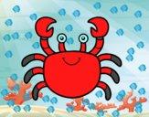 Dibujo Un cangrejo de mar pintado por jovankaS