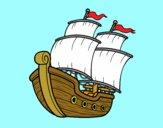 Dibujo Barco de vela pintado por Elnida