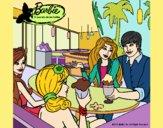 Barbie y sus amigos en la heladería