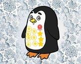 Dibujo Pingüino antártico pintado por raquelloki