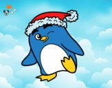 Pingüino con gorro de Navidad