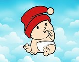 Bebé con Gorro de Santa Claus