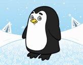 Dibujo Pingüino antártico pintado por brichuli