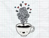 Taza de café kawaii
