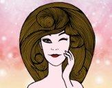 Dibujo Peinado con volumen pintado por isabel2k