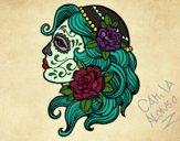 Dibujo Tatuaje de Catrina pintado por CamuAlonso