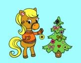Poni navideño