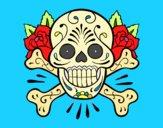 Dibujo Tatuaje de calavera pintado por ERICAM
