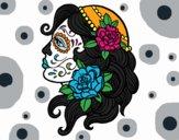 Dibujo Tatuaje de Catrina pintado por gress_hh