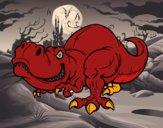 Dibujo Tyrannosaurus Rex pintado por wuilde