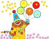 Payaso con globos