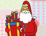 Santa Claus con regalos