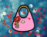Bolso de asas con flor