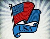 Dibujo Bandera de los Estados Unidos pintado por rodelo