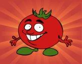 Dibujo Señor tomate pintado por ositaa