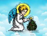 Dibujo Angelito navideño pintado por ELIANAMIRA